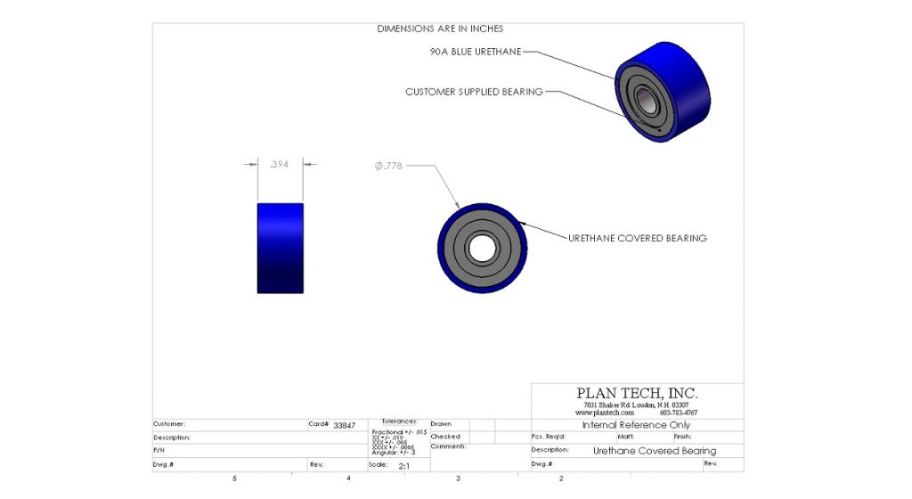 Urethane Covered Bearings